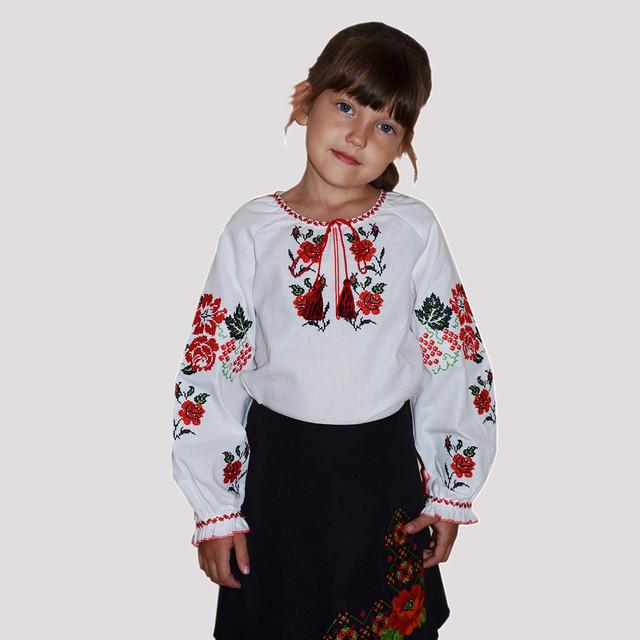 Вышиванка для девочки на хлопке 0987555561