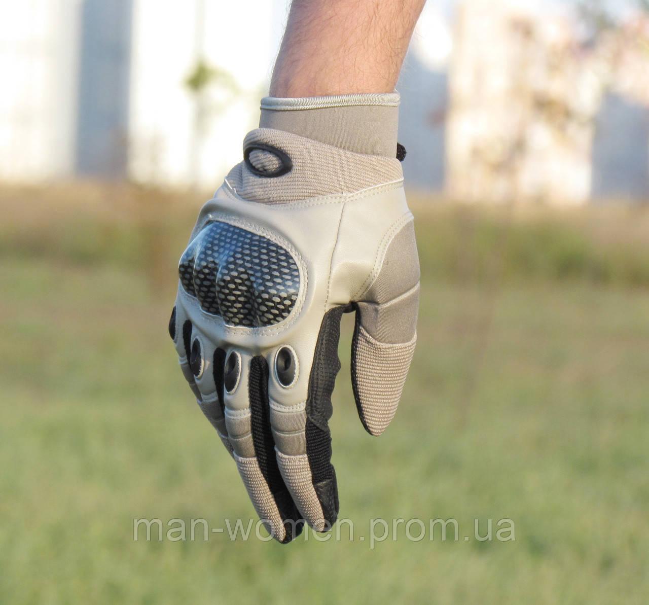 Перчатки тактические Оakley. Пустыня (расцветка - песок). Полнопалые