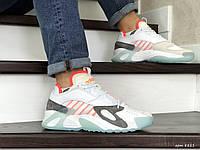 Чоловічі кросівки в стилі  Adidas Streetball  білі з помаранчевим