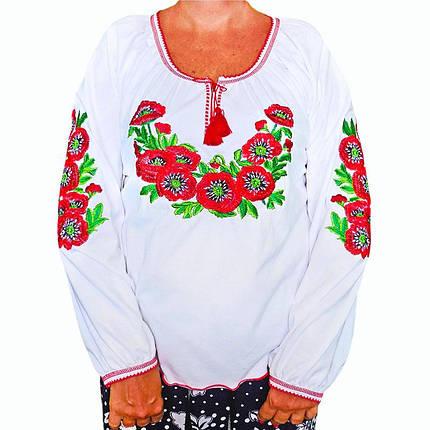 Вышиванка белая с длинным рукавом, фото 2