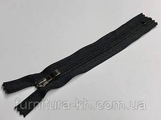 Черная тип 7 с бегунком Блек-Никель (Волна ).Длинна 18 см