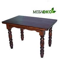 Стол для дома, кафе, баров, ресторанов из натурального дерева 120 х 75 см., на четырех ножках.