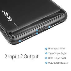 Внешний аккумулятор Essager ES-D009 Power Bank 10000 mAh Dual USB Black (EDY2UMT-XJ01), фото 2