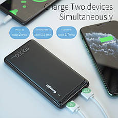 Внешний аккумулятор Essager ES-D009 Power Bank 10000 mAh Dual USB Black (EDY2UMT-XJ01), фото 3
