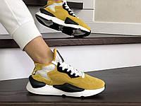 Кросівки жіночі в стилі  Adidas  Y-3   Kaiwa   жовті  ТОП якість