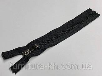 Черная тип 7 с бегунком Блек-Никель (Волна ).Длинна 25 см