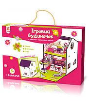 Игровой цветной домик Zirka 120336 с мебелью 3D конструктор