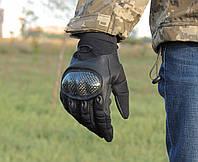 Перчатки тактические Оakley. BLACK (расцветка - чёрные). Полнопалые