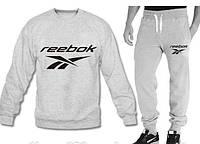 """Спортивный костюм мужской """"Reebok"""" серый на резинках Рибок"""