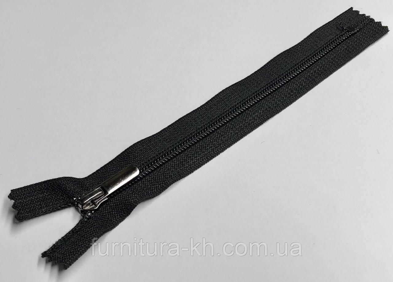 Черная тип 7 с бегунком Блек-Никель (Прямой).Длинна 30 см