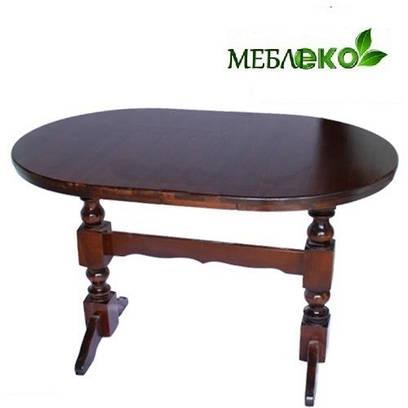 Стол обеденный, Стол Овальный  на двух ногах 120 х 75 см.