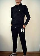 """Спортивный костюм мужской черный с капюшоном на замке """"Reebok""""  Рибок"""
