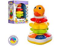 Игра Limo toy, пирамидка 25см, обучающая (цвета, животные ), неваляшка, погремушка, озвучена украинским языком, свет, 2 вида, на батарейках,