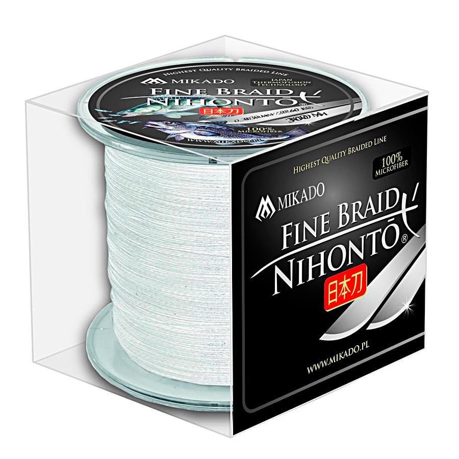 Шнур Mikado Nihonto Fine Braid 300м 0,06мм 3,25кг white