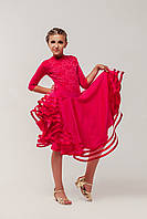 Рейтинговые платья для спортивных бальных танцев «Рубин» (купальник+юбка)