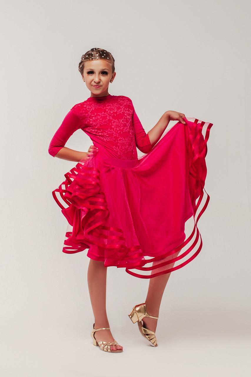 5c930ee3c6b Рейтинговые платья для спортивных бальных танцев «Рубин» (купальник+юбка)