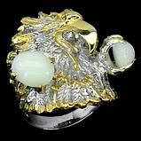 Серебряное кольцо с опалами 8мм*10мм в форме орла, фото 2