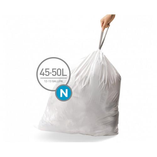 Мішки для сміття щільні з зав'язками 45-50л SIMPLEHUMAN