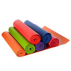 Йогамат ПВХ, 172,5-61см, товщина 6мм, 6 кольорів, MS1184