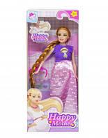 """Беременная кукла """"Счастливая мама"""" (платье с бантиками розовое) 2030-80"""