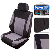 Набор чехлов Vitol Velur полный комплект 6 единиц серый