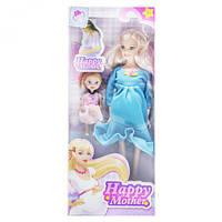 """Беременная кукла """"Happy Mother"""" с ребёнком (голубой) 858A1"""