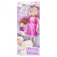 """Беременная кукла """"Happy Mother"""" с ребёнком (малиновый) 858A1"""