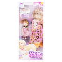 """Беременная кукла """"Happy Mother"""" с ребёнком (розово-золотой) 858A1"""