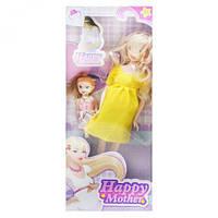 """Беременная кукла """"Happy Mother"""" с ребёнком (лимонный) 858A1"""