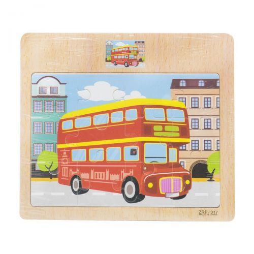 """Деревянные пазлы """"Автобус"""" 12 деталей C39040"""