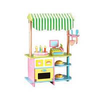 Деревянная игрушка Магазин, кондитерская, прилавок, сладости, кассовый аппарат, MSN15046