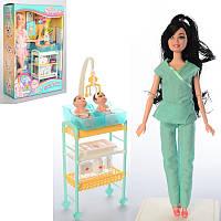 Кукла-доктор, шарнирная, пупс, стол, медицинские инструменты, JX200-11