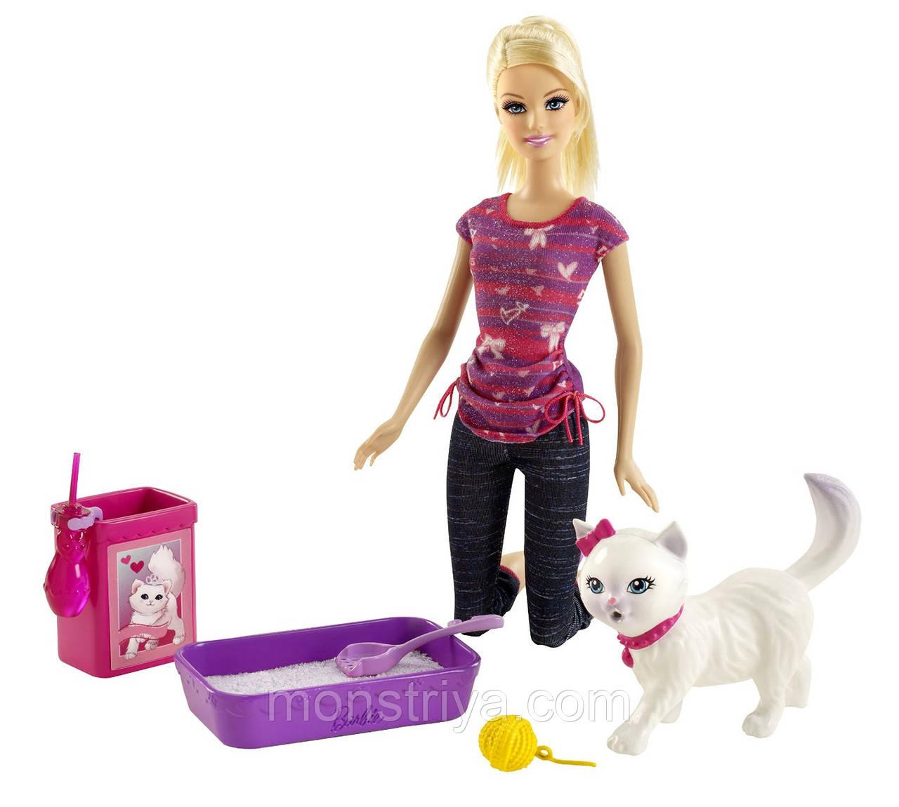 Кукла Барби Barbie с питомцем, кошечкой,Киев