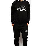 Спортивный костюм мужской черный с манжетами Reebok Рибок