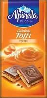 Шоколад Alpinella с начинкой тоффи, 100г