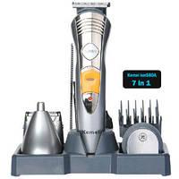 Бритва 7in1 аккумуляторная KM 580A Многофункциональный комплексный прибор для стрижки волос