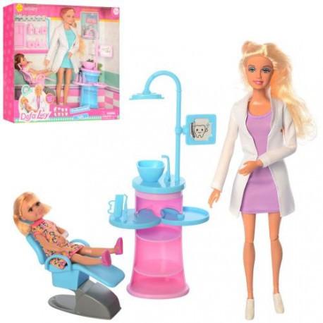 Кукла доктор стоматолог, 29см, шарнирная, дочка, мебель, 2 вида, DEFA, 8408-BF