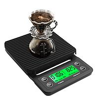 Весы цифровые для приготовления кофе MS-K07 (3кг/0,1, влагостойкие, резиновый коврик)