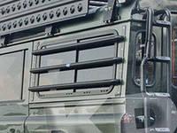 Защита боковых окон алюминиевая Land Rover Defender