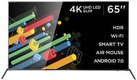 Телевізор ERGO 65DU6510, зі смарт тв, 4K UHD LED Slim, T2/S2 Smart TV