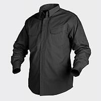Рубашка Helikon Defender с д/рукавом - Canvas Black