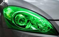 Пленка для тонировки оптики зеленая 100х40