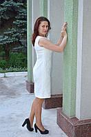 Платье-чехол белое