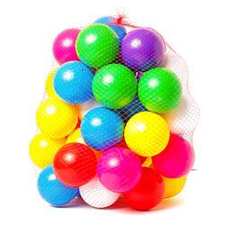 Кульки кольорові для сухого басейну, д9см., Бамсик, 0270