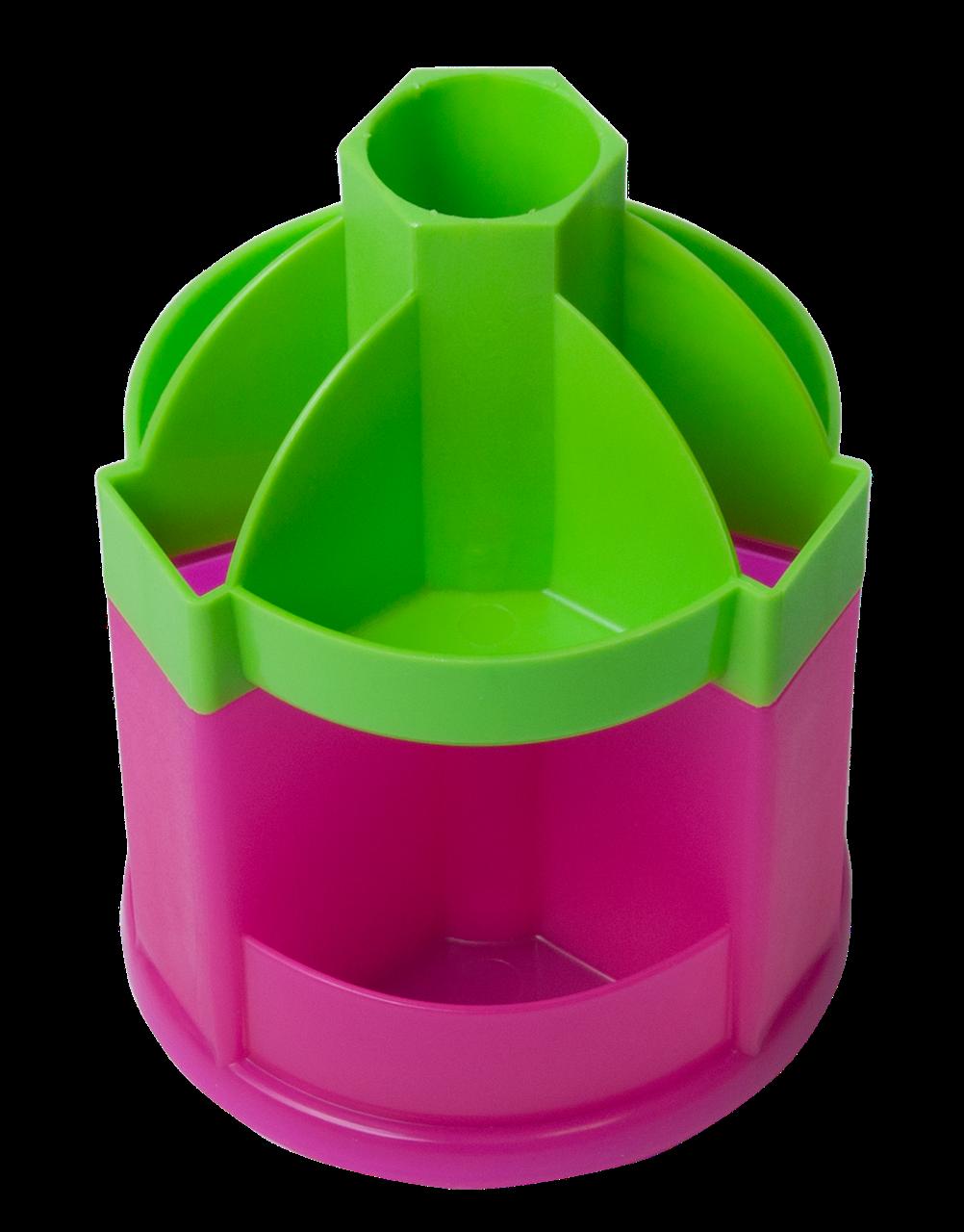 """Настольный набор """"ZiBi"""", 3019-1510, вращается, салатово-розовый, 115489 /КЦ"""