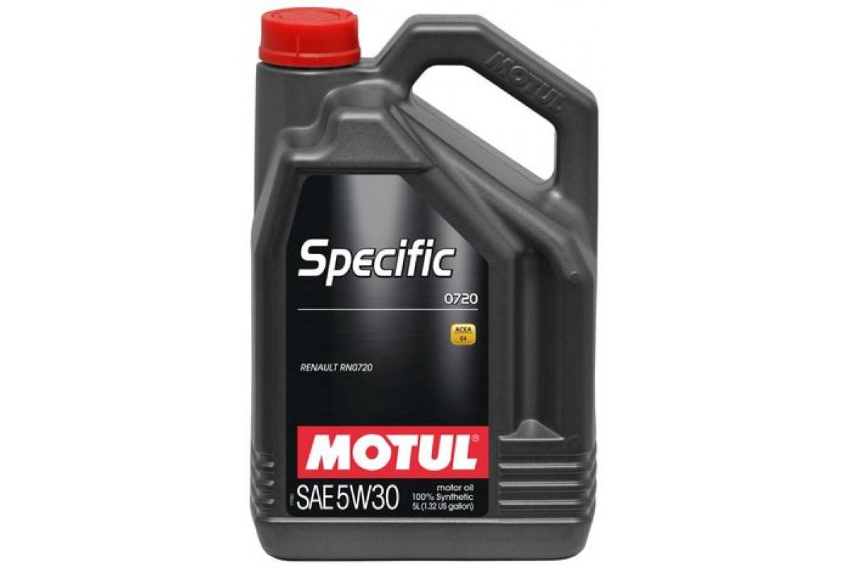 Синтетическое моторное масло - SPECIFIC 0720 5W30 5л