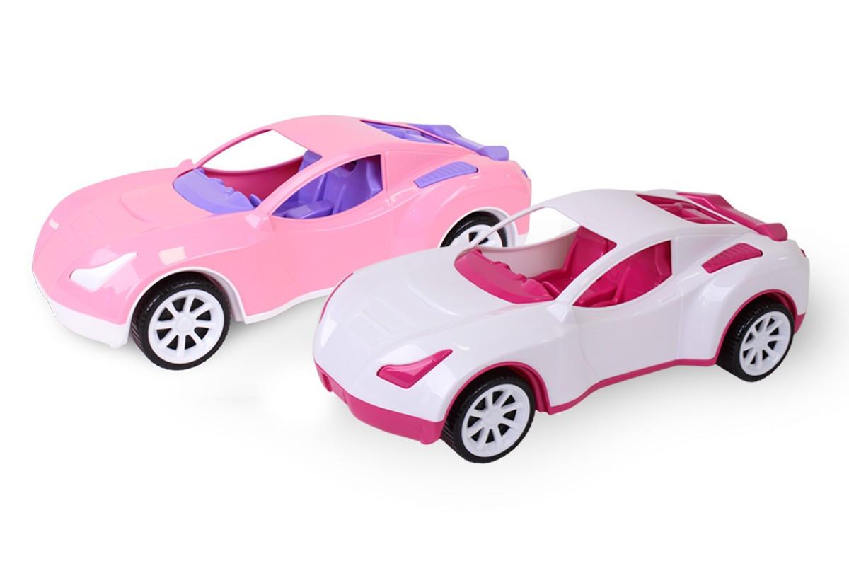 Автомобиль, цвет белый и розовый , 6351