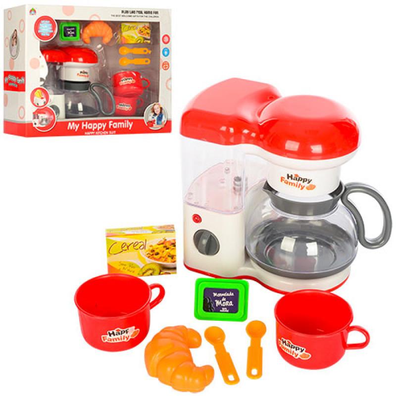 Набор бытовой техники, кофеварка, звук, свет, продукты, посуда, 5231C
