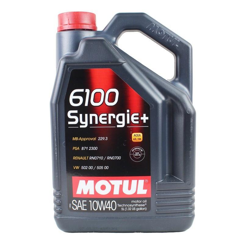 Полусинтетическое моторное масло - 6100 SYNERGIE+ 10W40 5л