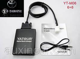 емулятор cd чейнджера Yatour M06 TOY2 USB/SD_CARD/AUX для штатних магнітол Daihatsu 6+6
